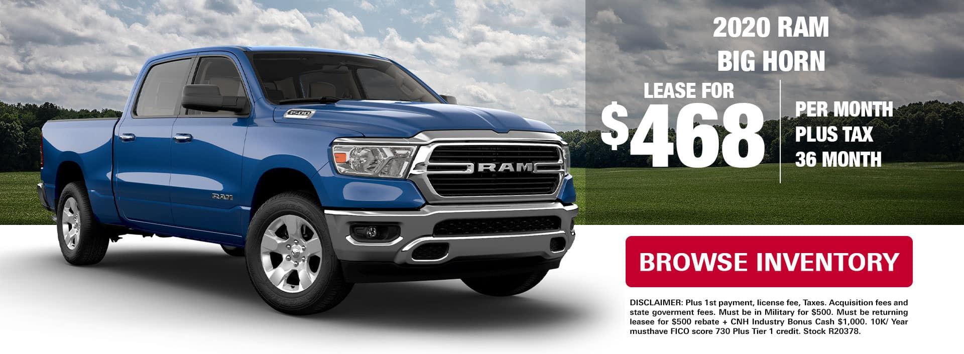 Ram Big Horn Lease Special