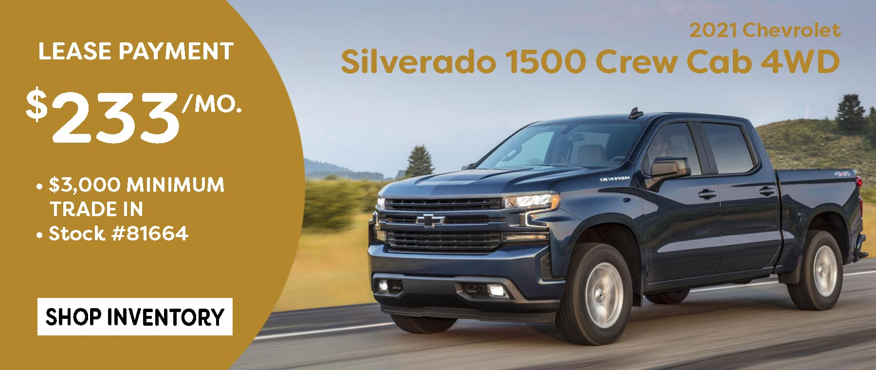 May 2021 Silverado Lease Offer $233/mo*