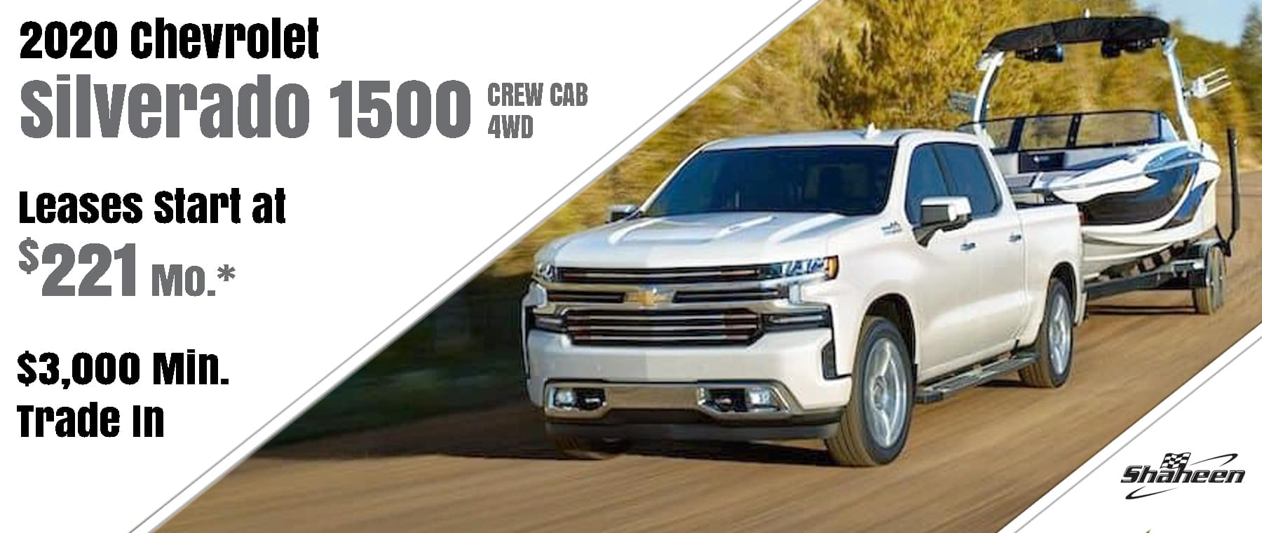 August Silverado Lease Special Start at $221/mo