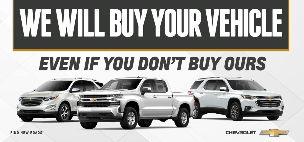 We'll buy your car even if you don't buy ours