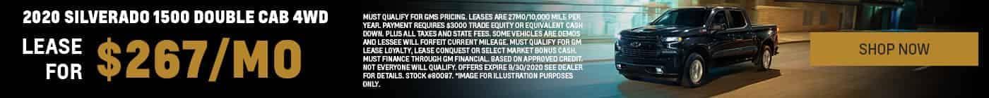 2020 Silverado 1500 Double Cab 4WD $267 /mo. Stock #80087