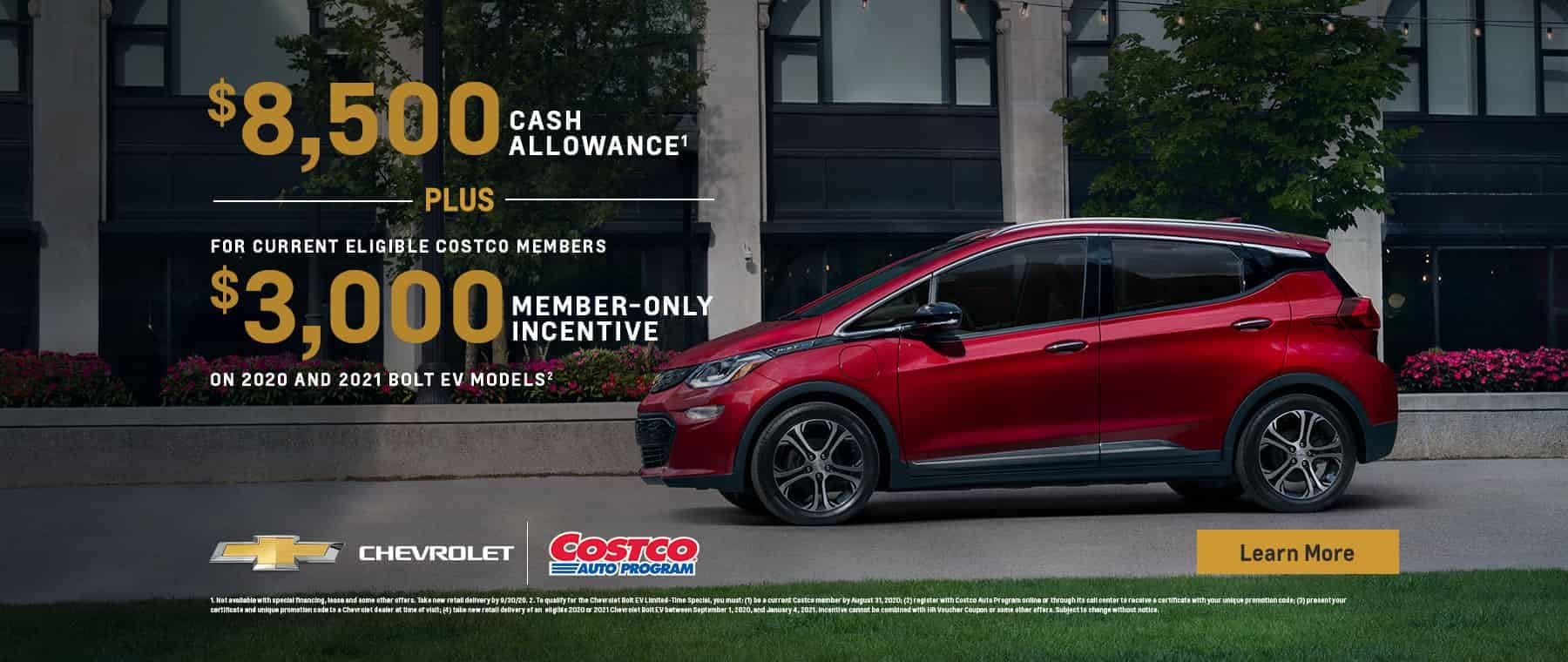 Special Costco Members Offer on 2020 and 2021 Bolt EV Models
