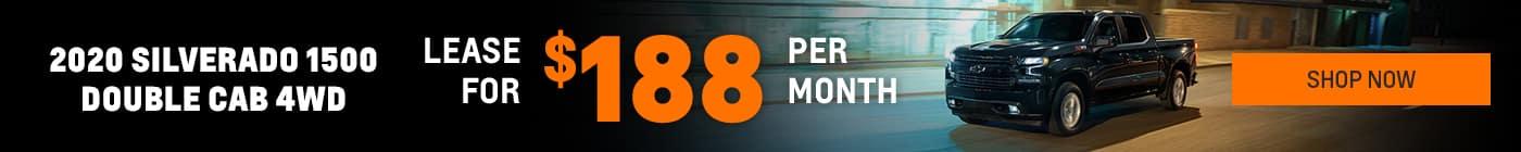Lease a new Silverado for $188 per month