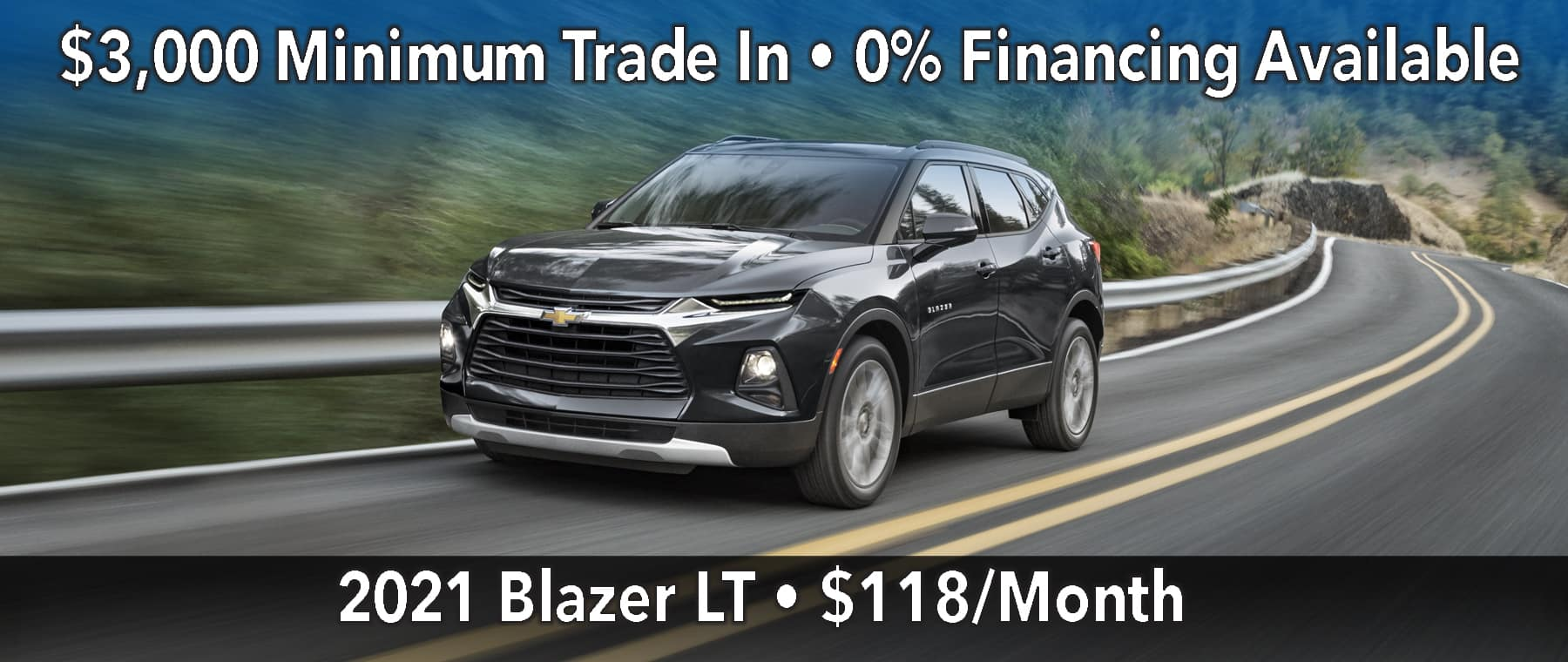 January Blazer Lease Offer $118/mo*