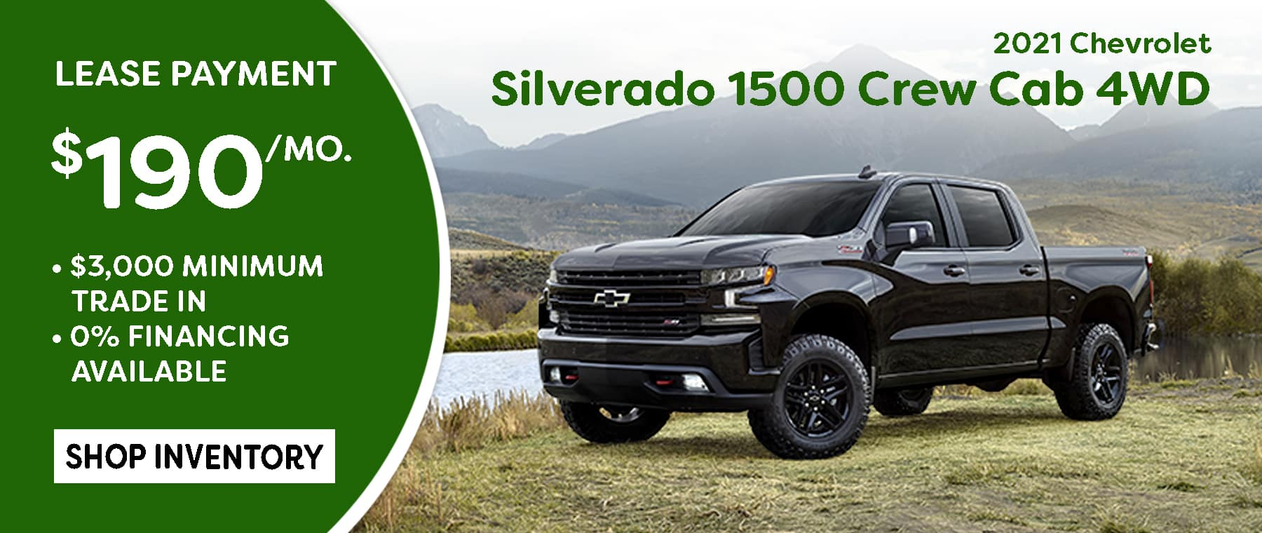 March Silverado Crew Cab Lease Special $190/mo*