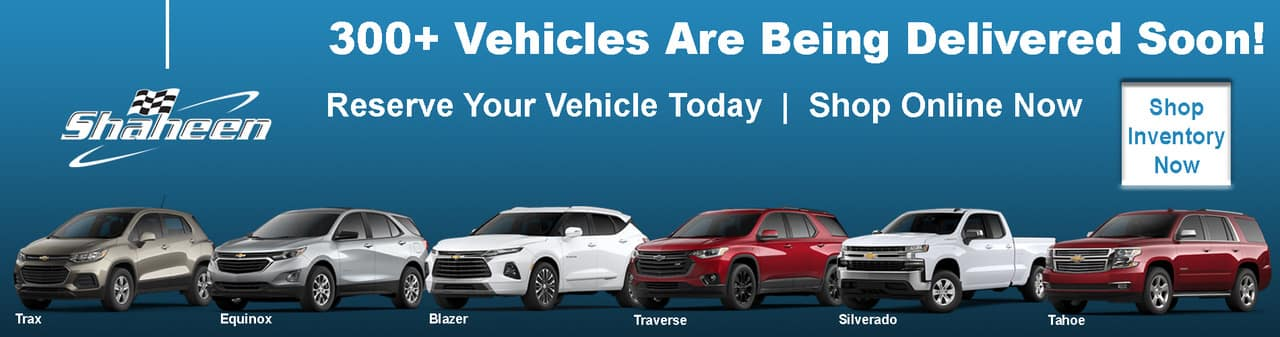 Reserve Your New Chevy Today