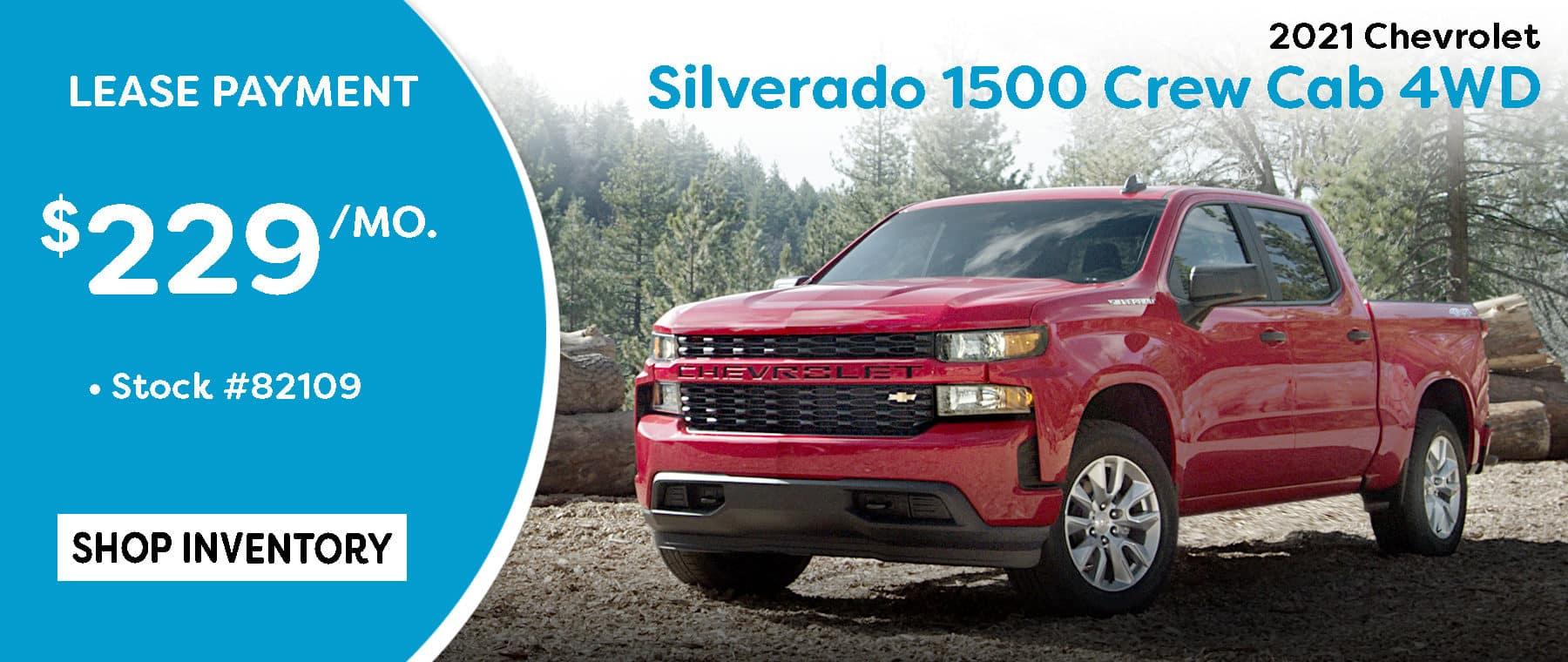 September 2021 Silverado Lease Offer $229/mo*