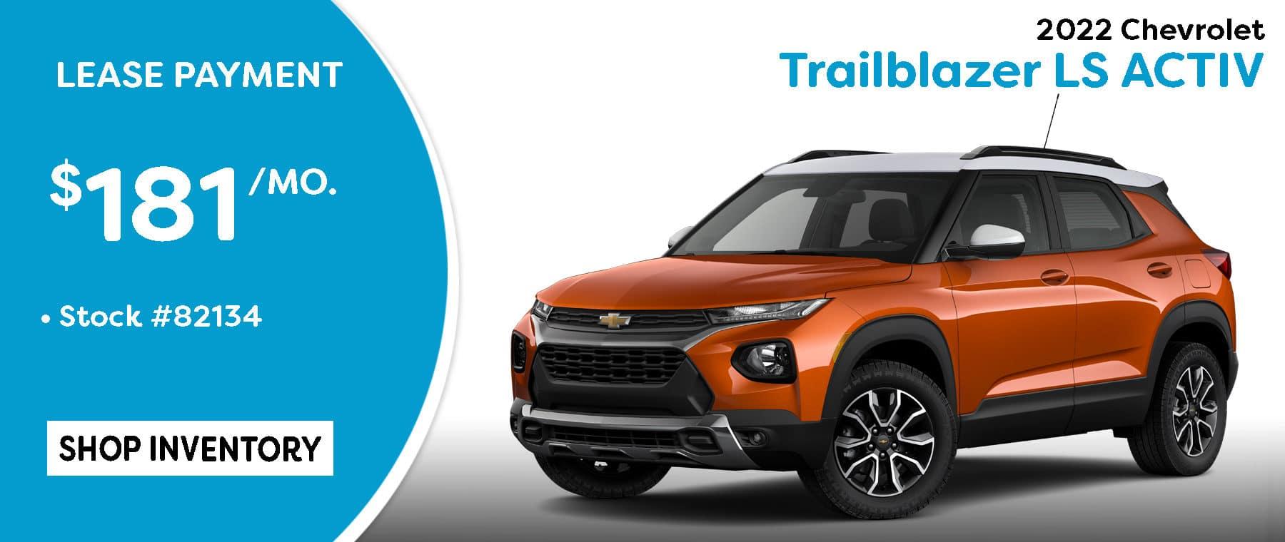September 2022 Trailblazer Lease Offer $181/mo*
