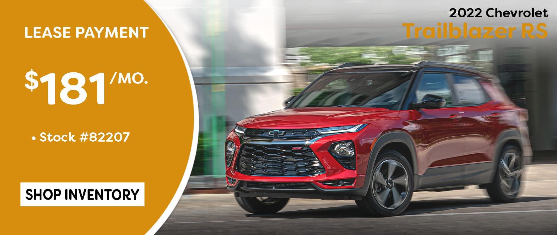 October Trailblazer RS Lease special $181/mo*