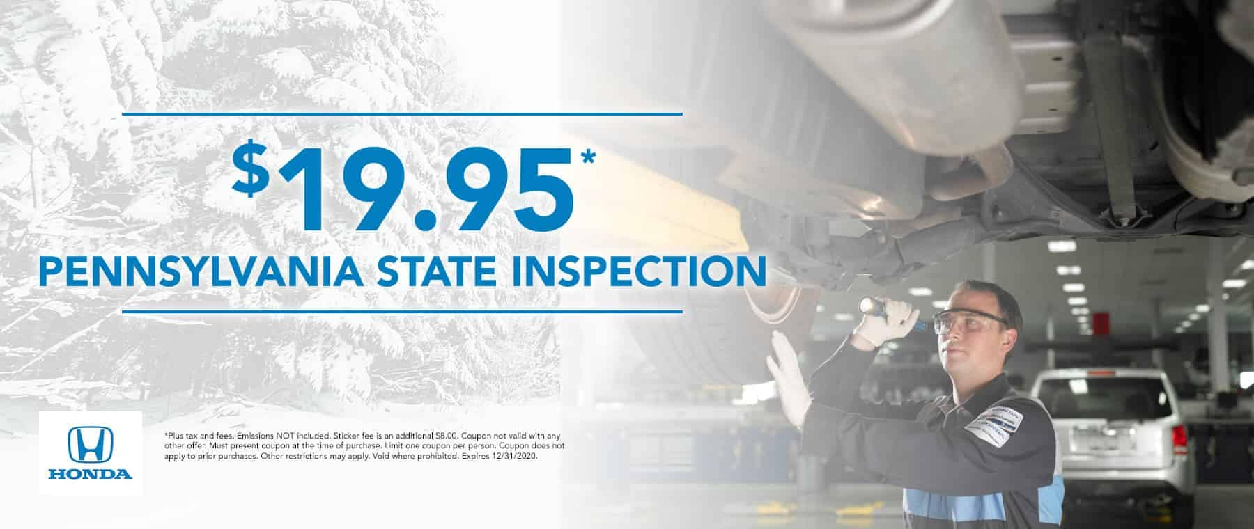 $19.95 Pennsylvania State inspection