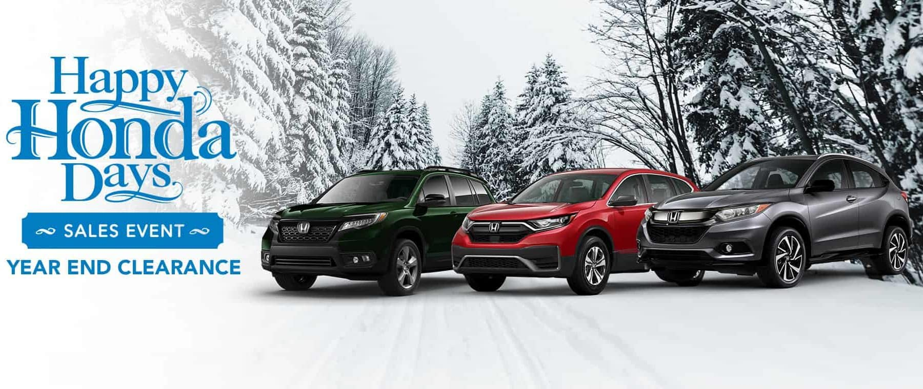 Happy Honda Days Year End Clearance