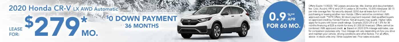 New CR-V for $279 per month
