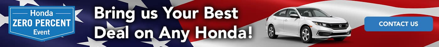 Bring us your best deal on any Honda