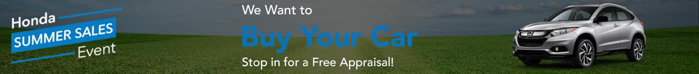 We Want to Buy Your Car, Stop In for a Free Appraisal