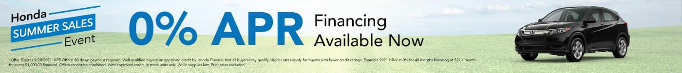 0% financing APR available now