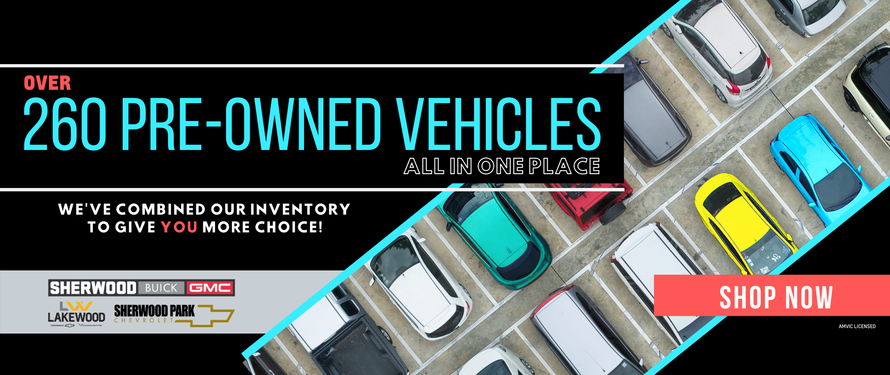 We've combined our inventory to give you more options.