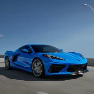 blue corvette exterior