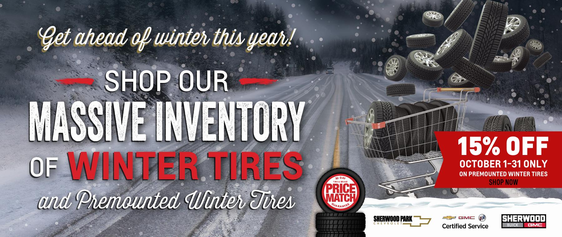 Winter Tire Sale - SBG_SPC 15% Off