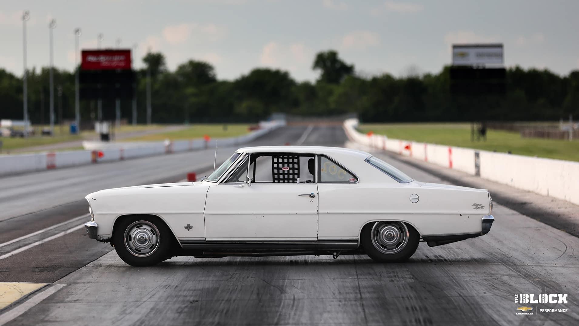 Chevy Nova on Race Track