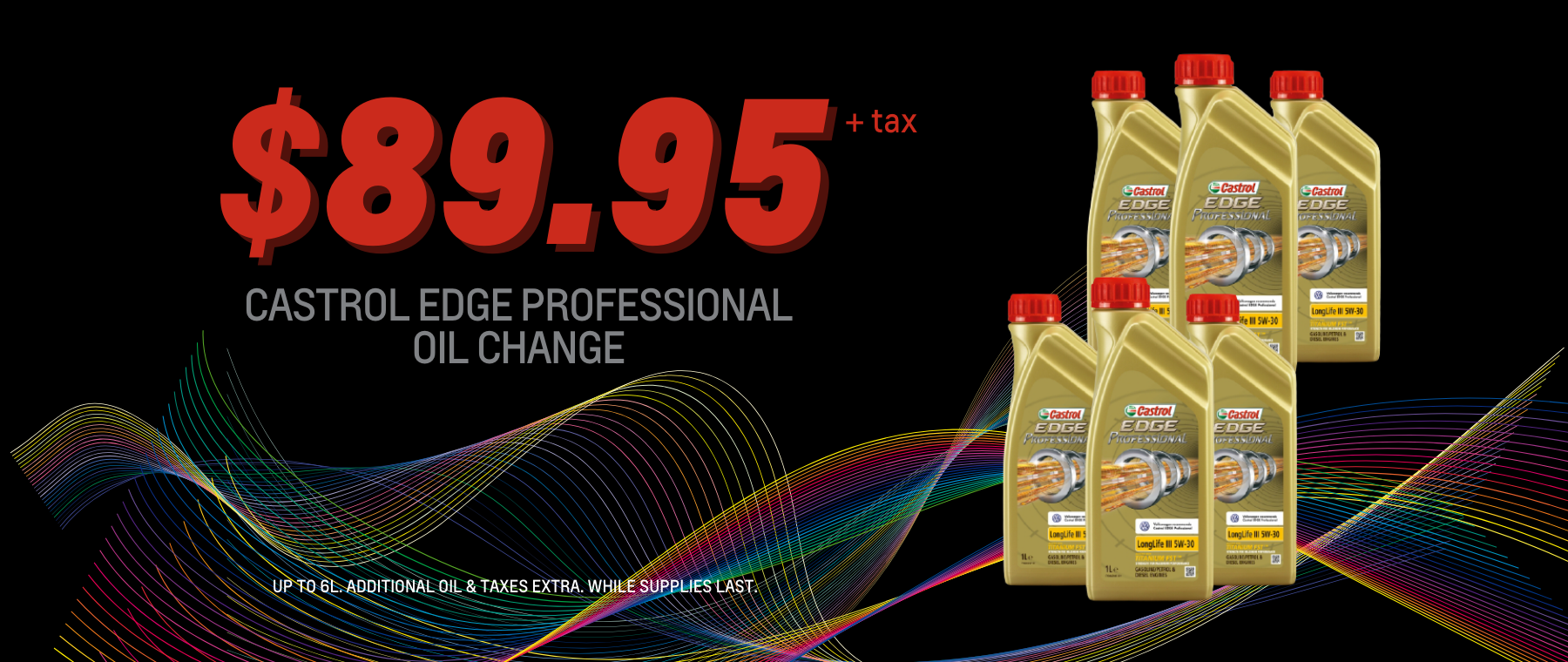 CASTROL EDGE PROFESSIONAL OIL CHANGE – Service Specials Page