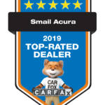 Acura Top Rated Dealer Award