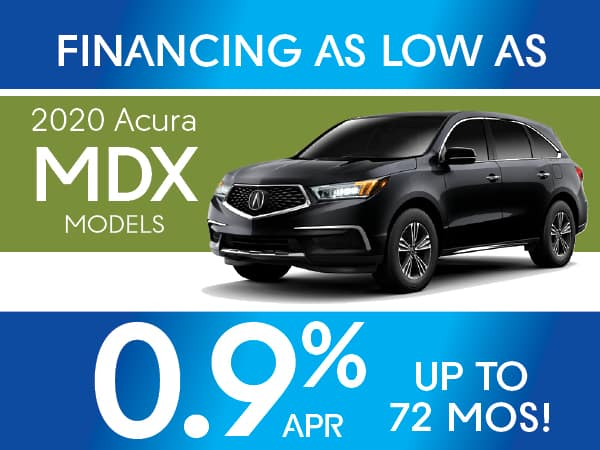 0.9% APR for 72 months on 2020 Acura MDX