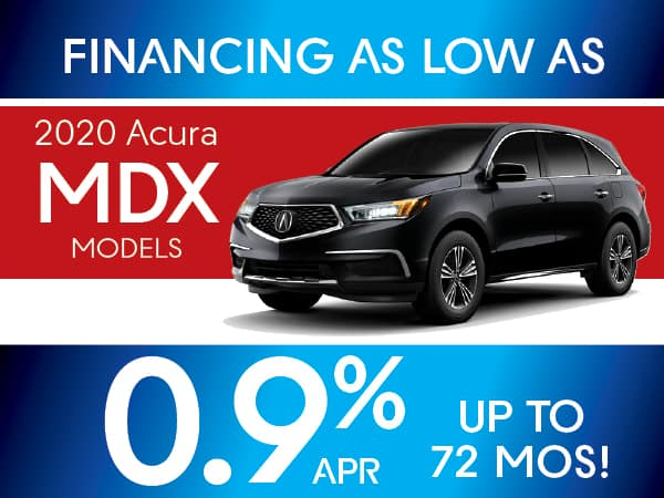 0% APR for72  months on 2020 Acura MDX