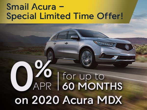 0% APR for 60 months on 2020 Acura MDX