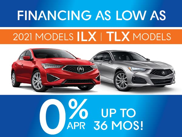 2021 Acura ILX and TLX models