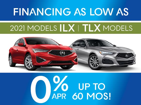 2021 Acura TLX and ILX models.