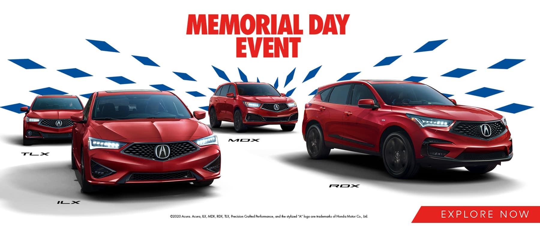 Acura Memorial Day Sales Event