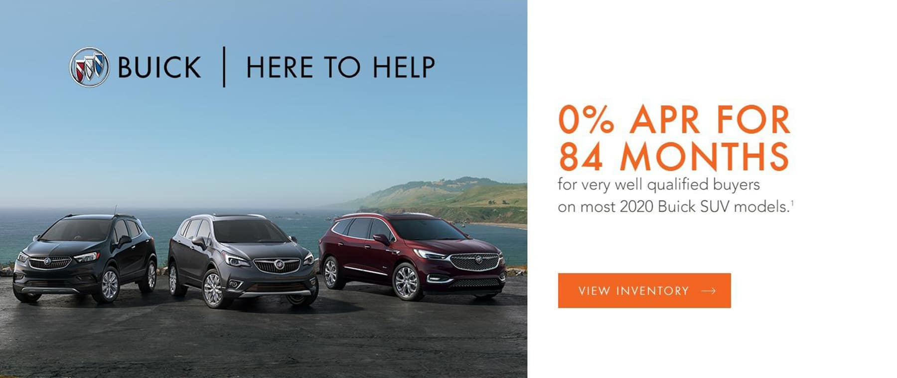 0% APR for up to 84 months on Most Buick SUV Models