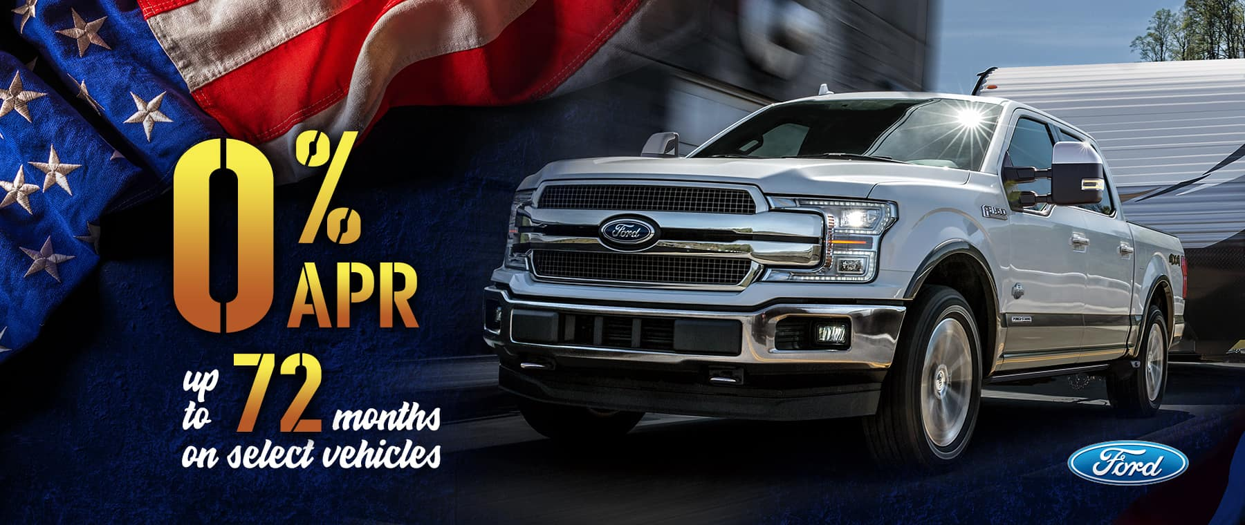 Ford 0% APR for 72 Months on Select Models