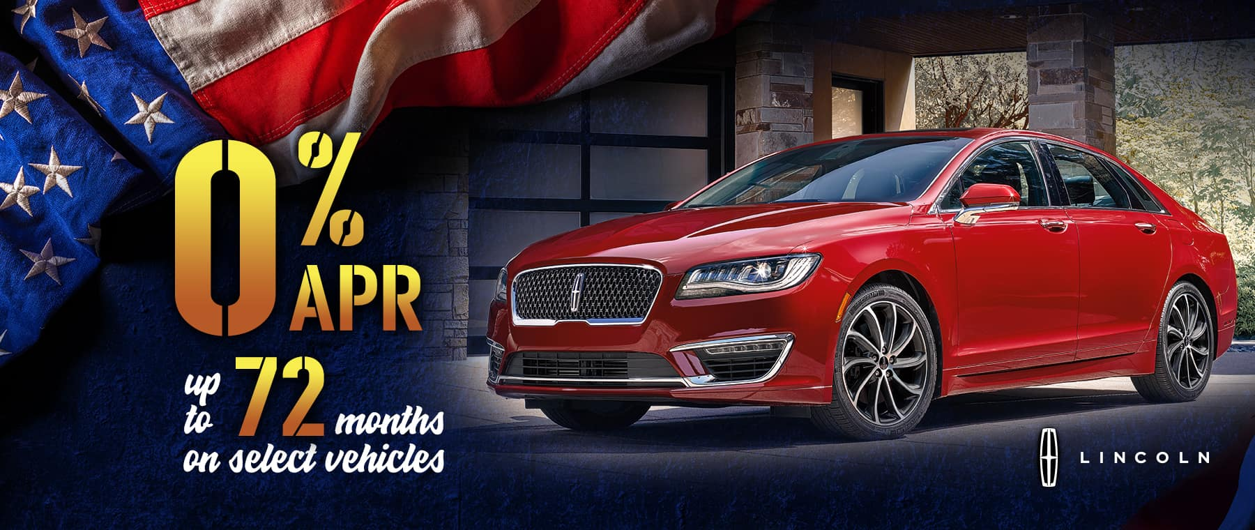 Lincoln 0% APR for up to 72 Months on Select Models