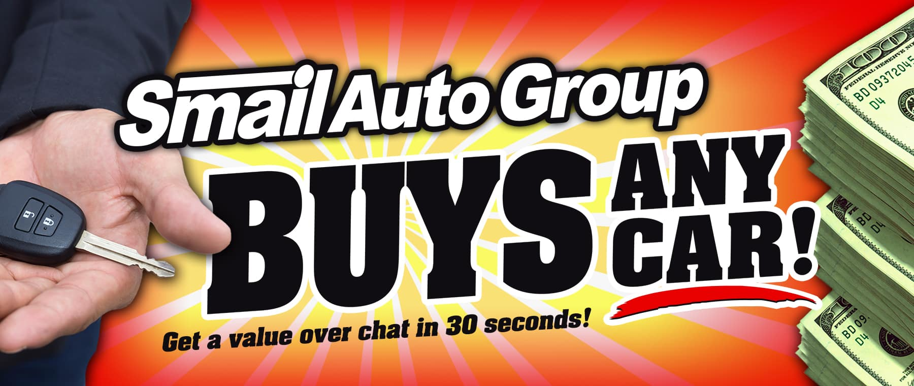 Smail Buys any car, truck or SUV!