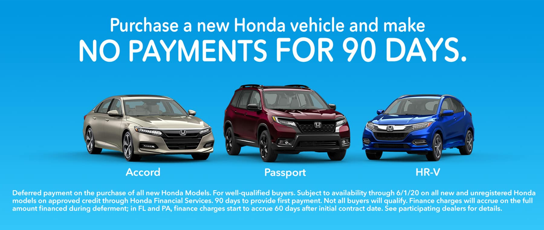 Honda No Payments for 90 days