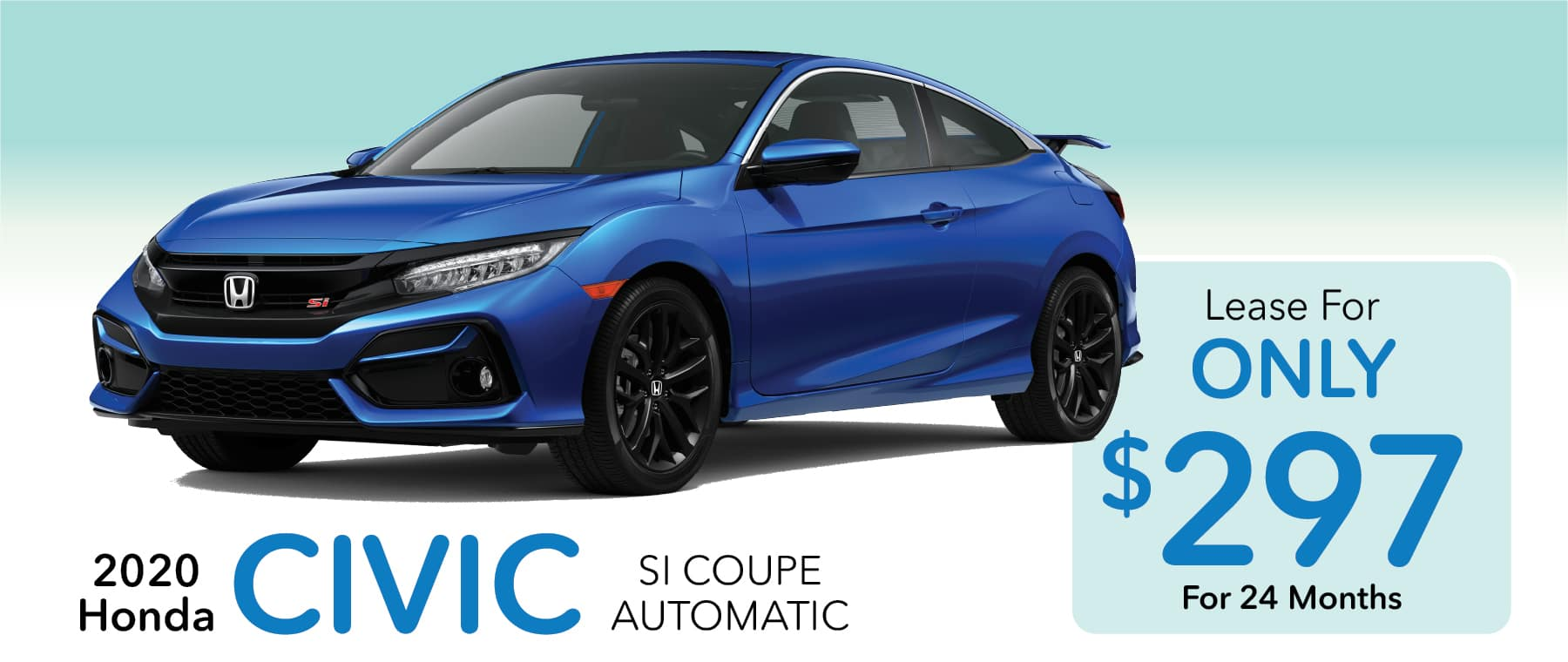 2020 Honda Civic Coupe Lease for $297 Per Month