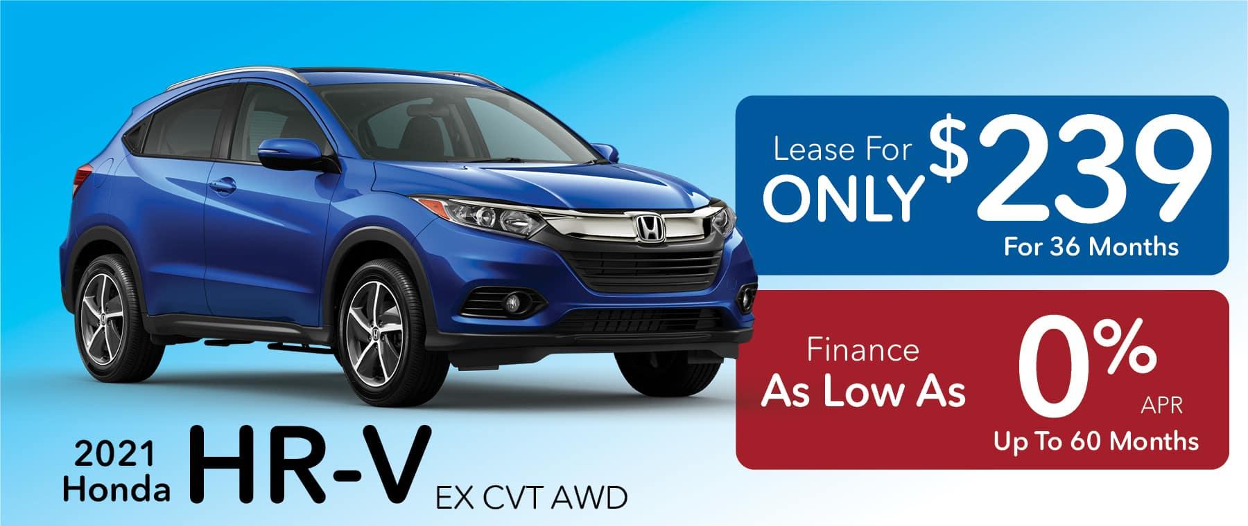 2021 Honda HR-V Lease for $239/month!