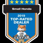 Honda Top Rated Dealer Award
