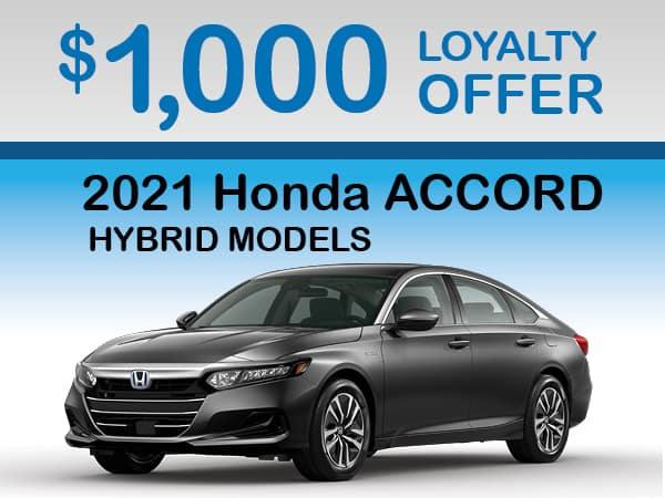 2021 Honda Accord Hybrid - Loyalty Offer