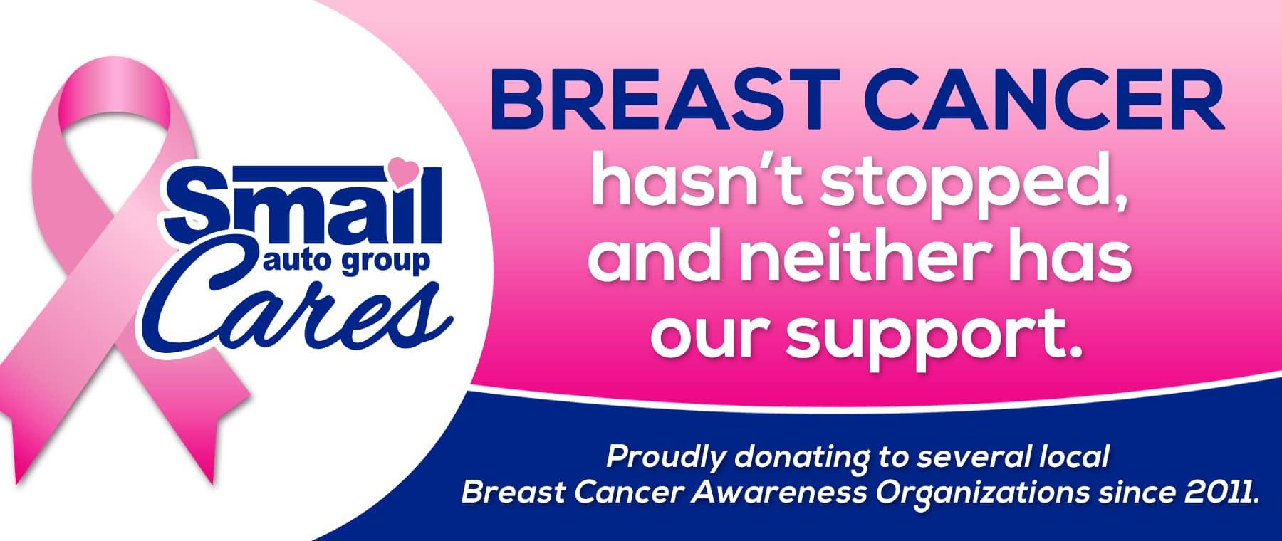 Breast Cancer hasn't stopped and neither has our support
