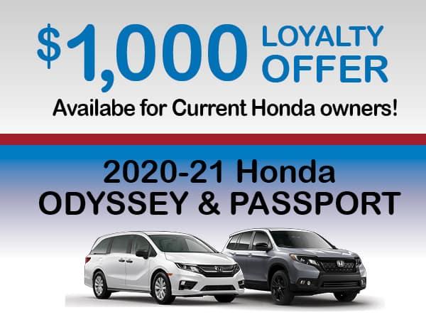$1000 LOYALTY - 2020 ODYSSEY & PASSPORT