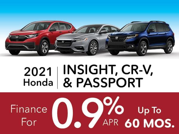 2021 Honda Insight, CR-V, & Passport