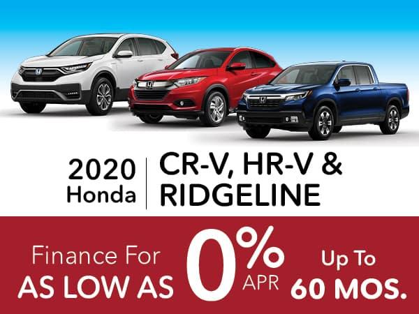 2020 Honda CR-V, HR-V & Ridgeline