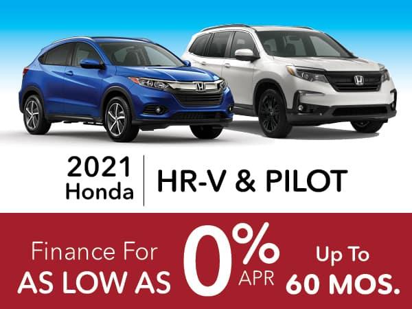 2021 Honda HR-V & Pilot