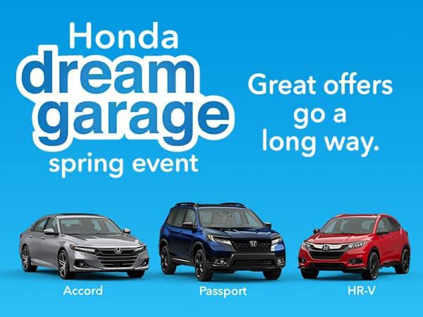Honda Dream Garage Spring Sales Event