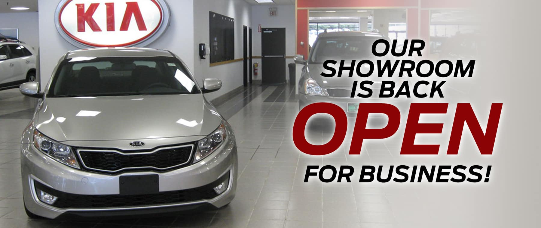 Kia dealer in Greensburg PA is now open for Sales and Service