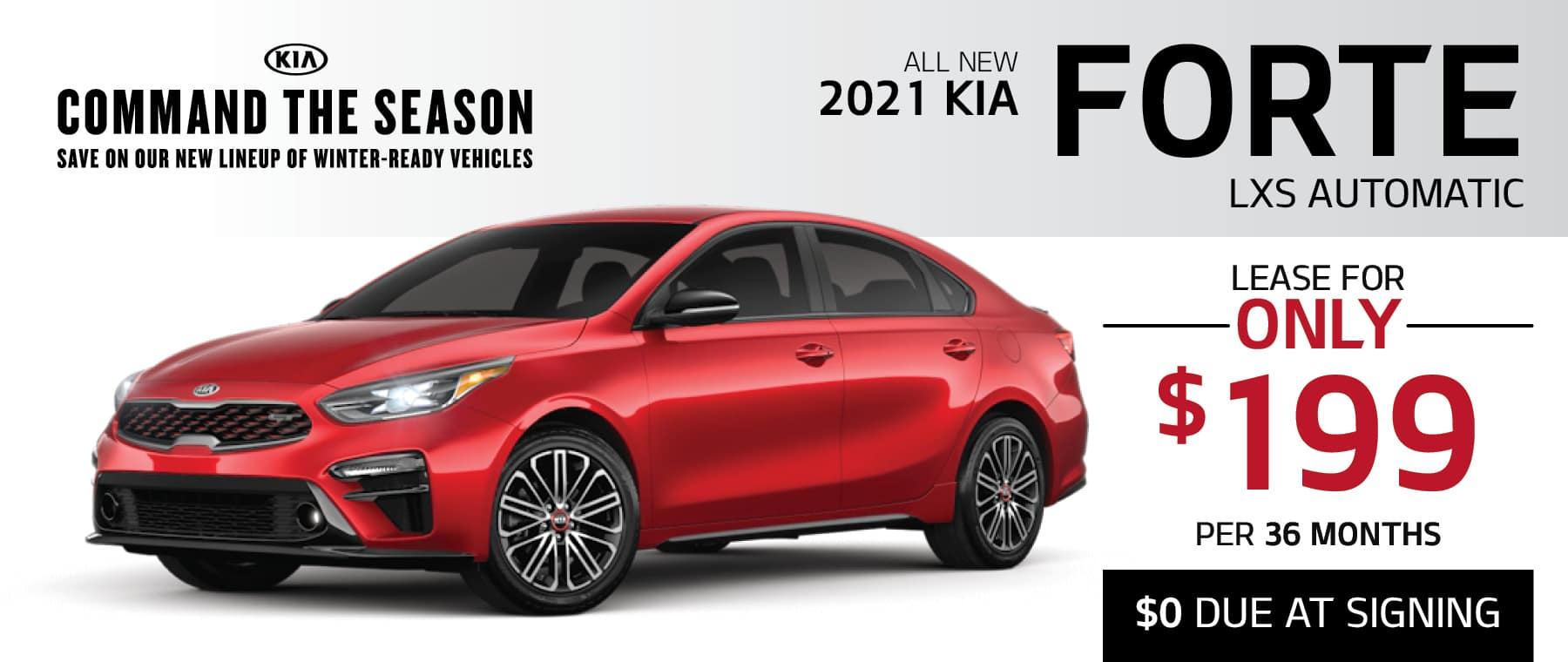 Kia Forte Sedan Lease for only $199 per month at Smail Kia