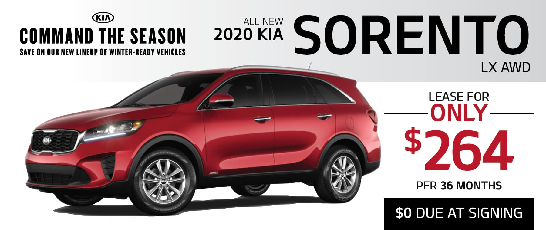 2020 Kia Sorento Lease for just $264 per month at Smail Kia