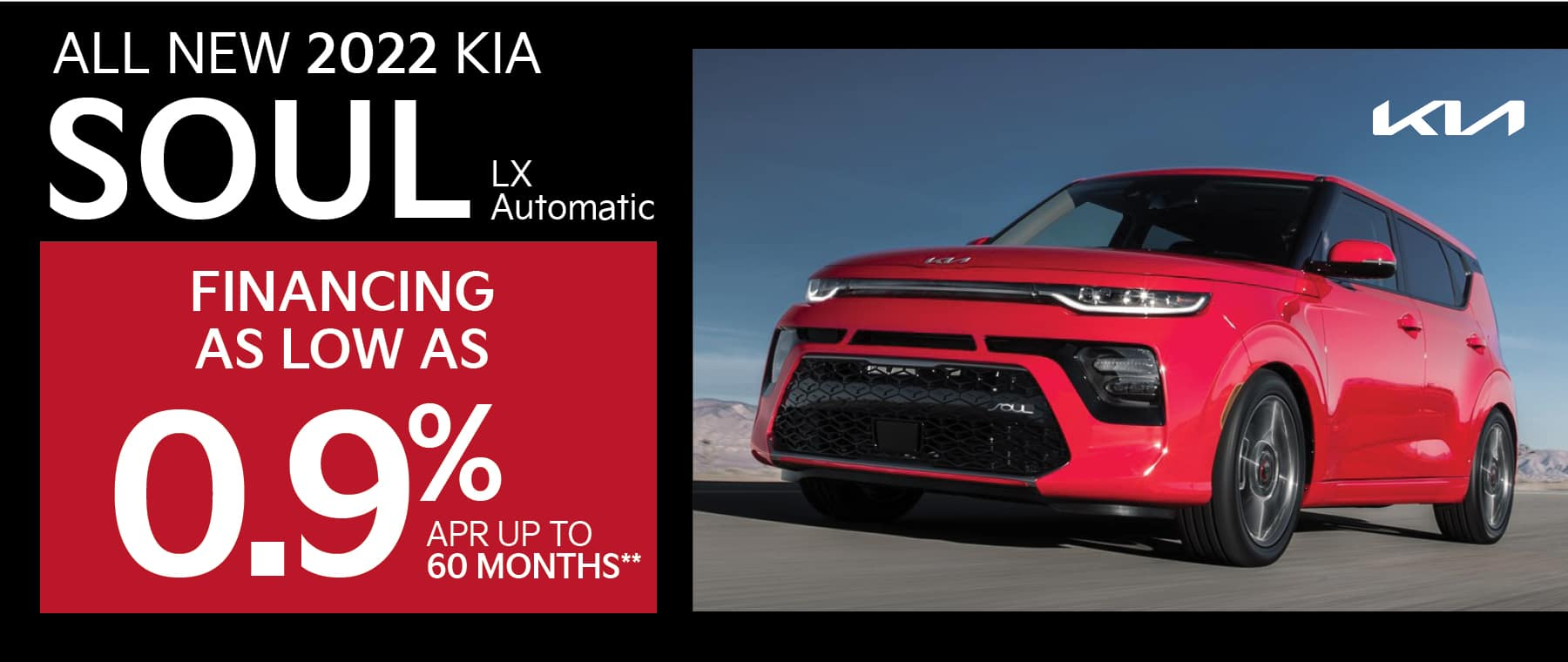 Smail Kia 0.9% APR for up to 60 months